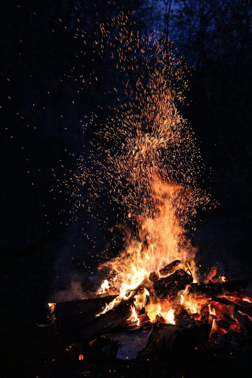 ash blaze bonfire burn